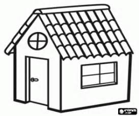 Download Image Coloring Page Of Houses With Roof PC Android IPhone  sketch template
