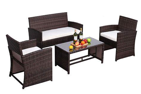 dou outdoor patio furniture set  pcs pe rattan wicker