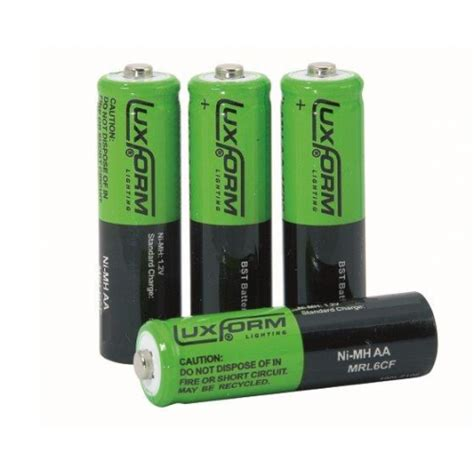 Luxform Solar Rechargeable Aa Batteries Pack Of 4 Rechargeable Aa Batteries For Solar Lights