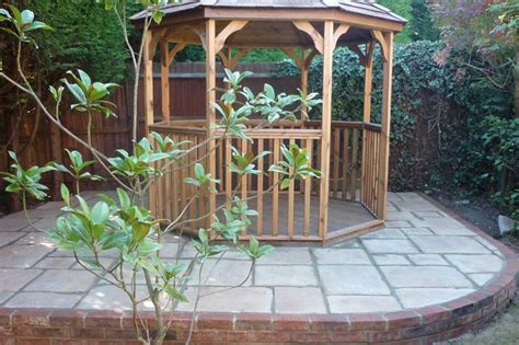 garden pagodas and wooden decking in high wycombe bucks