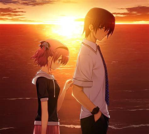 sad anime couple hd wallpaper m9themes