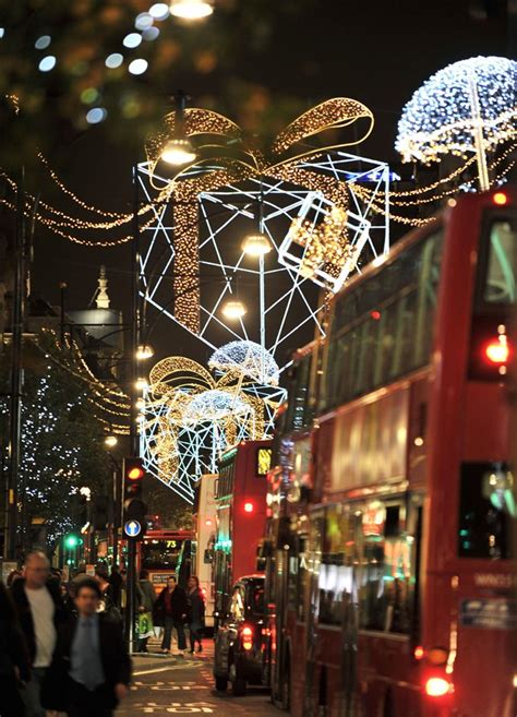 oxford street christmas lights images marylebone london