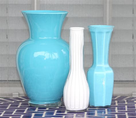 How To Paint A Vase by Desperate Craftwives Acrylic Painted Vases