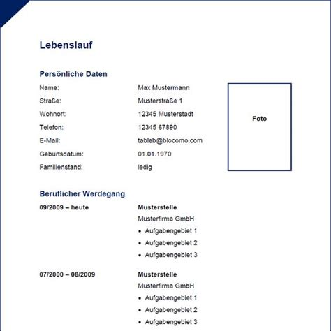Lebenslauf Modern Vorlage 2014 modern blue cv with border moderne lebenslauf vorlage