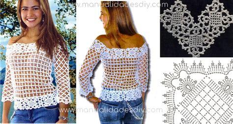 ver a travs de la blusa ganchillo blusa patrones tallas grandes de como hacer una blusa tejida facil con video tutorial