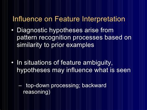 pattern recognition clinical reasoning clinical reasoning