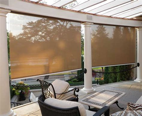 Retractable Motorized Awnings Sunroll And Sentry Two Versatile Motorized Screens