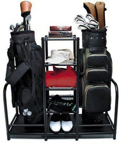 Golf Bag Garage Organizer by Two Golf Bag Organizer Sports Gear Storage Club Shoes