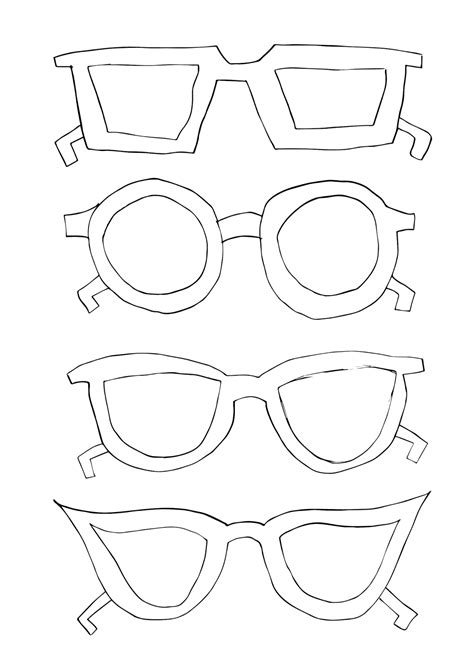 sunglasses template for cut out www imgkid com the