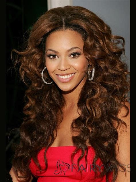 how to style the beyonce weave on a bride beyonce knowles lace front long wavy brown synthetic wig