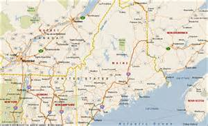 map of maine and canada maine map