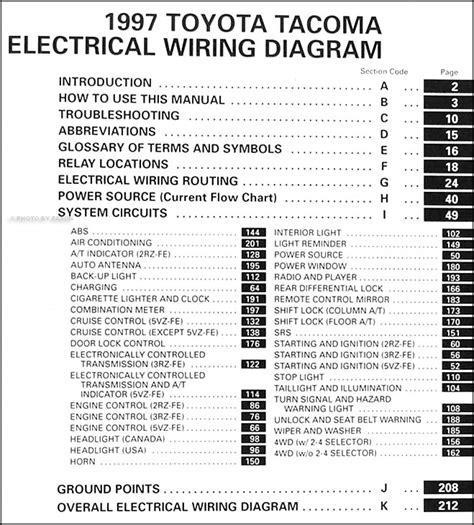 1997 toyota tacoma wiring diagram manual original