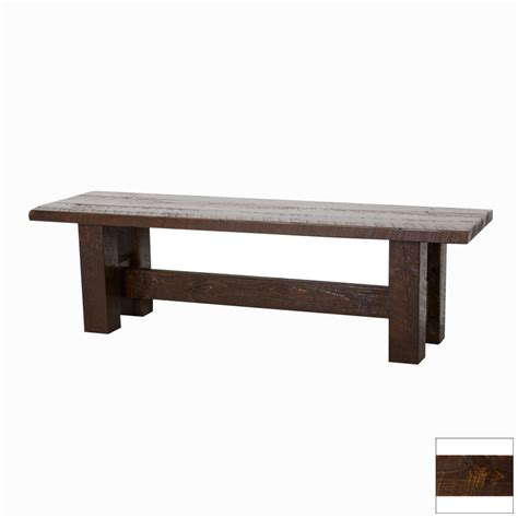 60 dining bench shop viking industries barnwood dark 60 in dining bench at