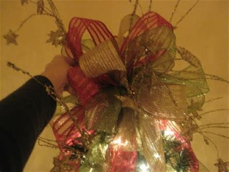 how to make a christmas tree topper bow enticing