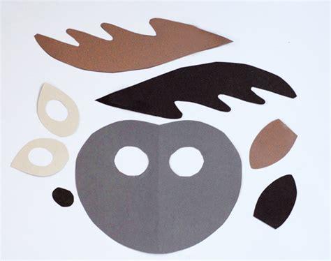 printable mask of deer wild paper animal masks a subtle revelry