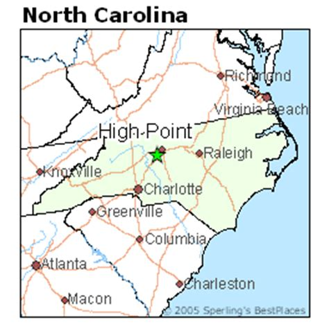 best places to live in high point north carolina