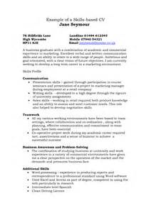 Skill Based Resume Sles by Skills On Resume