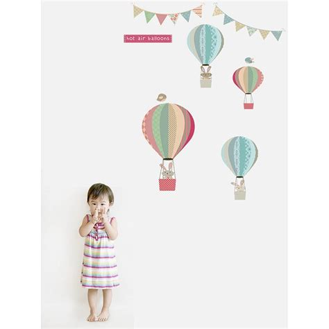 balloon wall stickers bunny and balloons fabric wall stickers by littleprints