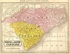 map of northern south carolina map
