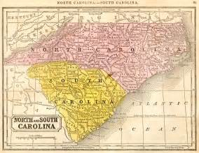 north carolina south carolina 1851 map
