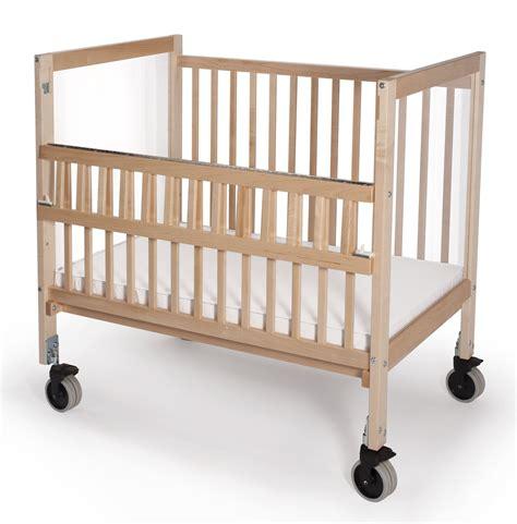 Evacuation Crib by Infant Clear View Folding Rail Evacuation Crib From