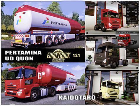 indonesia trailer ud quon pertamina trailer truck