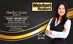realtors business cards black weichert realtors business card design 115061