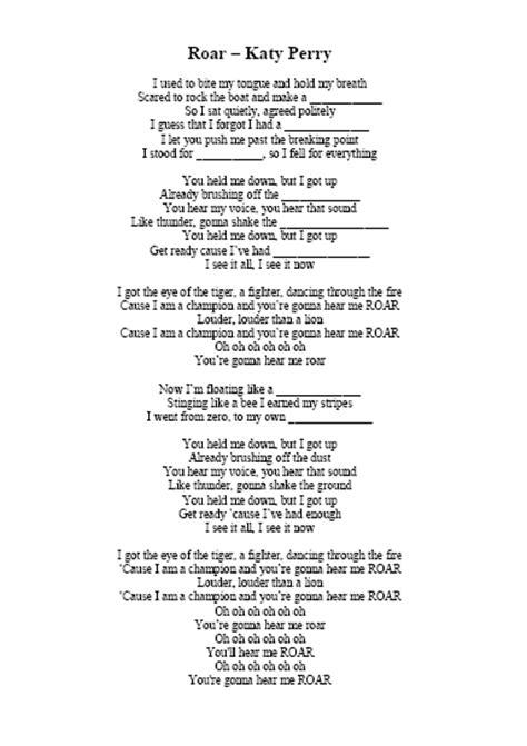 printable lyrics katy perry songs efl 2 0 resources