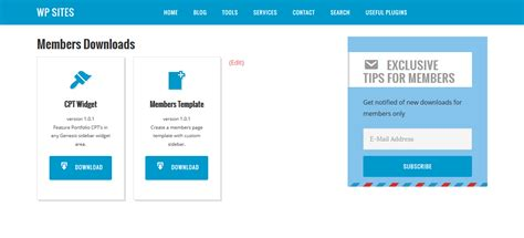 members page template genesis page template for logged in members only downloads