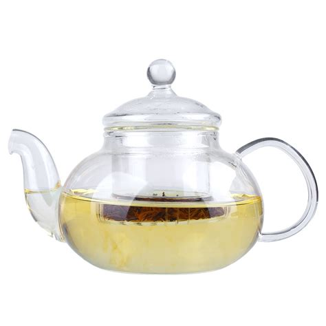 glass teapot with heat glass teapot with infuser coffee tea leaf herbal tea