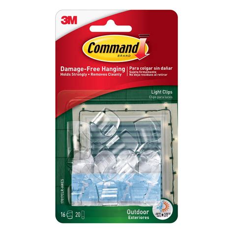 Command Clear Small Outdoor Light Clips 17017clr Aw The Outdoor Light Hooks