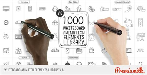 Whiteboard Animated Elements Library By Premiumilk Videohive Whiteboard After Effects Template