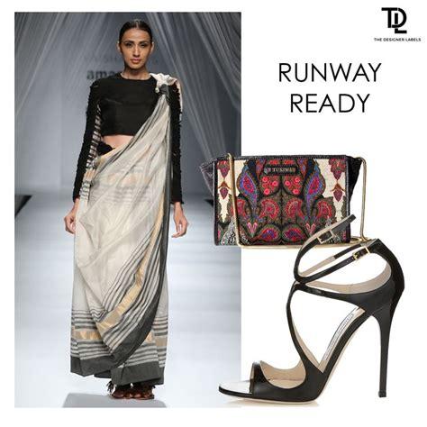 Monochrome Sling Bag monochrome sari by vaishali s and sling bag by label ritu