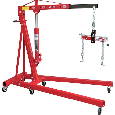 Engine Crane 2 Ton Limited strongway hydraulic engine hoist with load leveler 2 ton capacity 1in 82 5 8in lift range