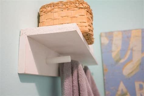 diy bathroom towel pegs  shelf     shelf
