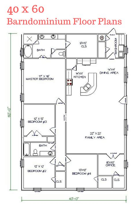 texas barndominium floor plans 40x50 metal building house 30 barndominium floor plans for different purpose