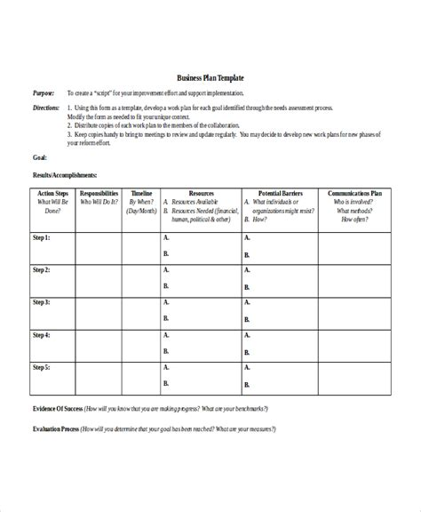 action plan template 14 free word pdf document