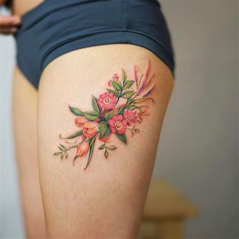 imagenes de tattoo de flores flores por nando tattoo tatuajes para mujeres