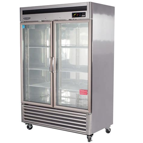 turbo air msr 49g 2 54 quot glass door refrigerator new