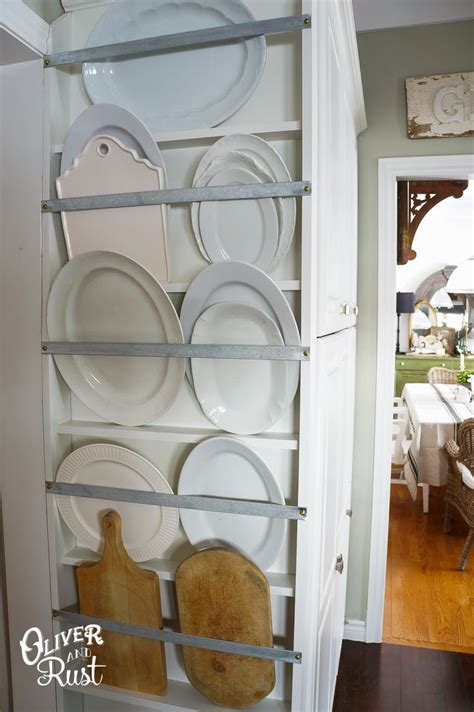 cabinet hanger wall plate oliver and rust plate rack kitchen diy organization