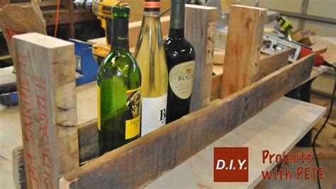 Rack Tutorial by How To Make A Pallet Wine Rack With Diy Pete