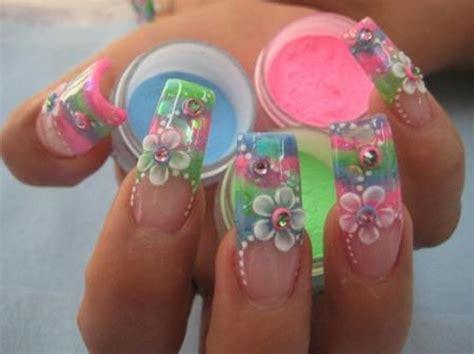 imagenes de uñas de acrilico en 3d ε dise 241 os de u 241 as decoradas з