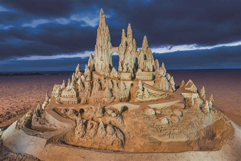 A Castle Of Sand king of the sand castle bill pavlacka makes magic on