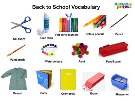 imagenes de utiles escolares en ingles para imprimir utiles escolares en ingles imagui