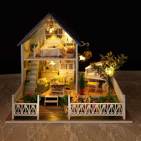 Handcrafted Doll Houses - a030 europe big size diy wooden miniatura