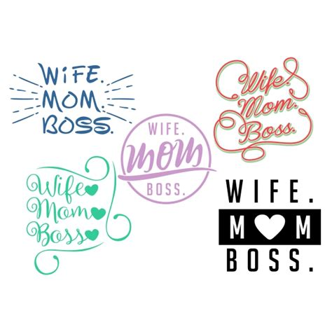 Tables Turn Quotes Wife Mom Boss Cuttable Design