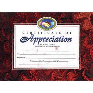 certificate of appreciation va514 hayes
