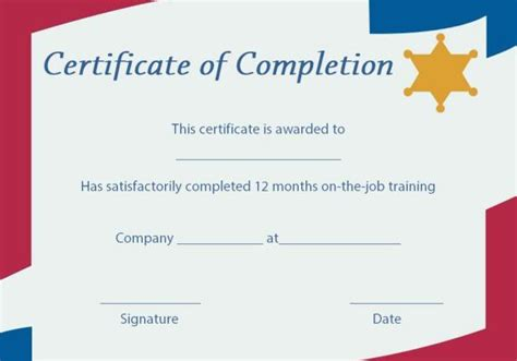 ojt certificate of completion template 23 best certificate of completion images on