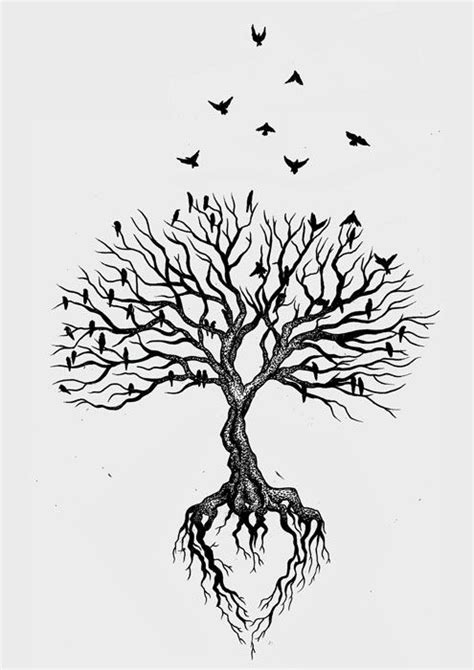 tree with roots tattoo lauryn tree leg bocetos drawings the