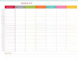 Template Schedule Weekly by Weekly Schedule Template Calendar Template 2016